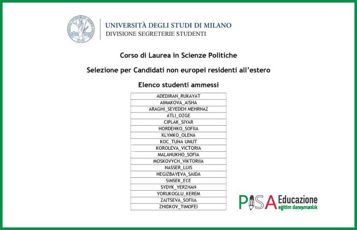 Pisa Educazione'den Milano'da 5'te 5