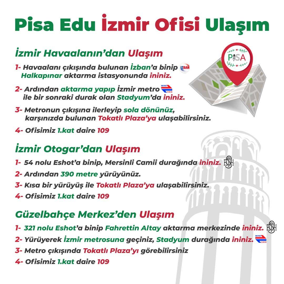 Pisa Edu İzmir Ofisi Ulaşım