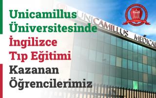 Roma Saint Unicamillus Üniversitesinde İngilizce Tıp Eğitimi Kazanan Öğrencilerimiz