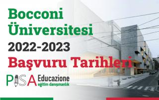 Bocconi Üniversitesi 2022-2023 Başvuru Tarihleri